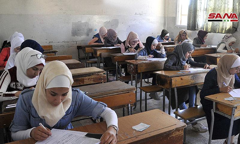بدء امتحانات الدورة الثانية لشهادة الثانوية في مدارس النظام