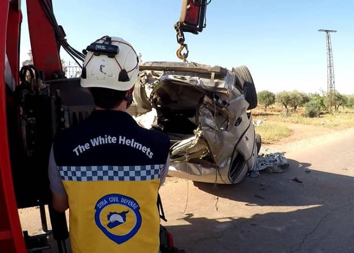 وفاة شخص وإصابة أخرين بحادث سير في ريف ادلب