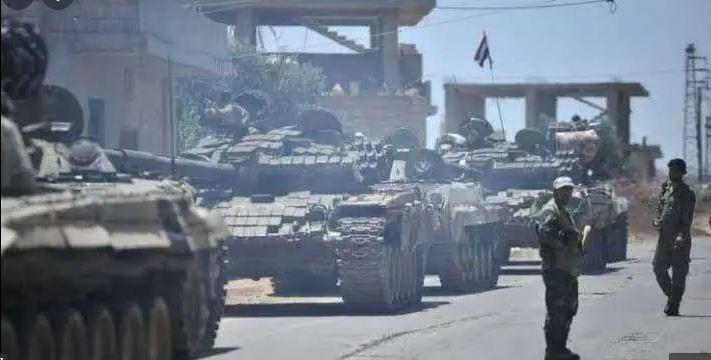 قوات الأسد  تستقدم تعزيزات جديدة وتحاول التقدم إلى مدينة جاسم في ريف درعا الشمالي