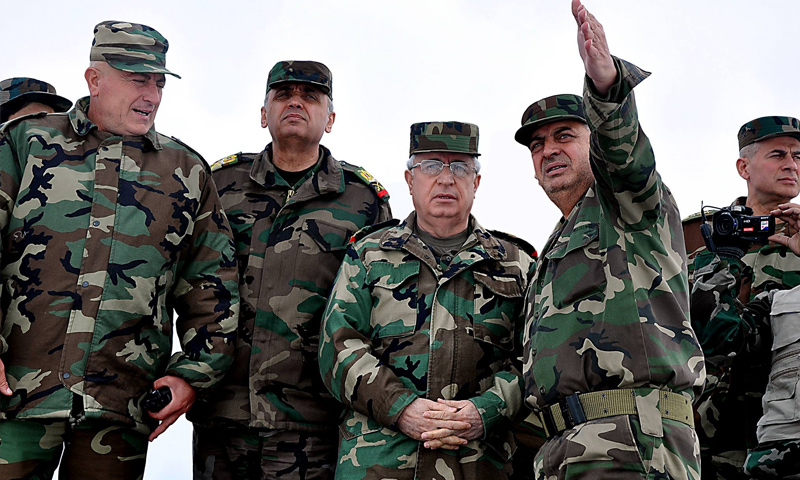 The Minister of Defense in the government of the regime arrives in Daraa