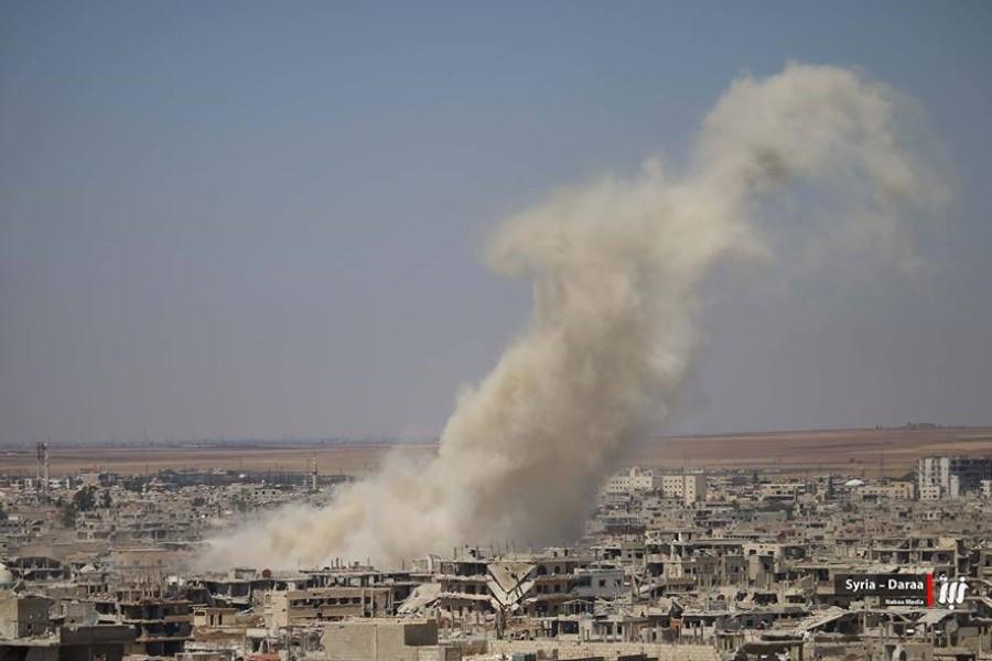 فشل المفاوضات مع نظام الأسد..وأحياء درعا تتعرض لقصف همجي من الفرقة الرابعة