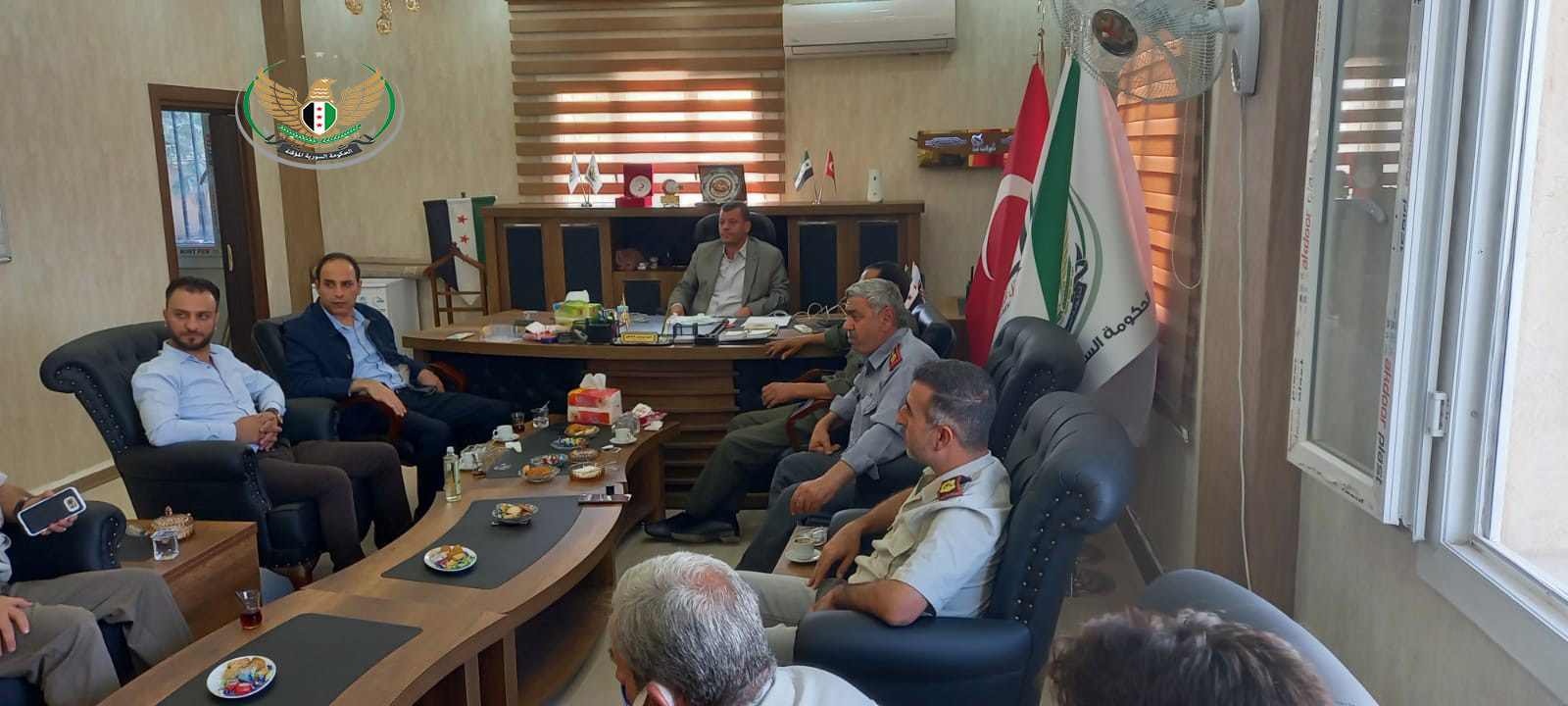 An inspection tour of the Minister of Interior in the interim government in the liberated north