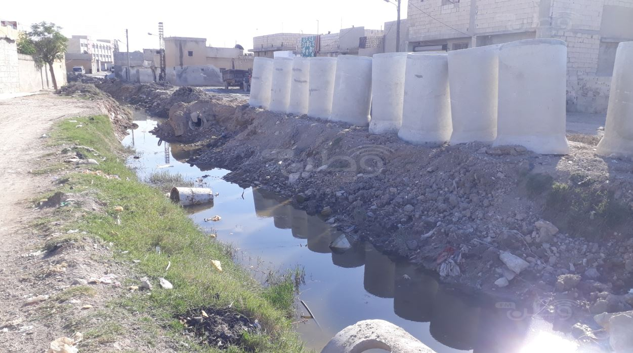 With Turkish-local cooperation, Tal Abyad begins implementing the largest sewage project in the city