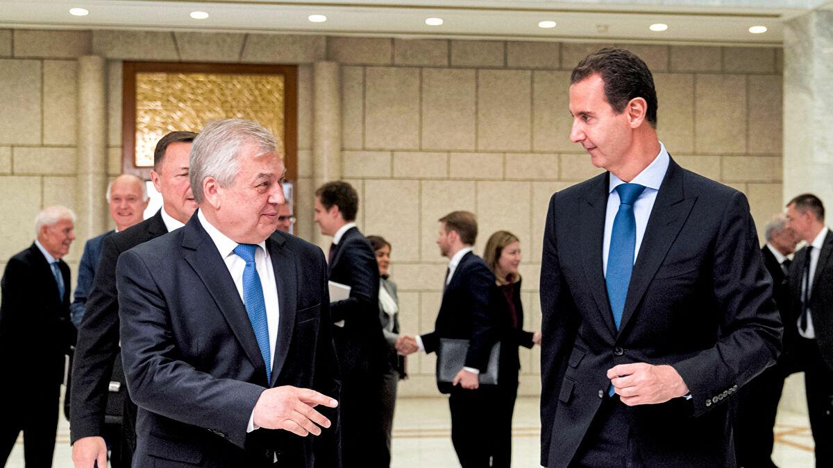 وفد روسي  يبحث مع  بشار الأسد في دمشق مجالات التعاون بين موسكو  و النظام