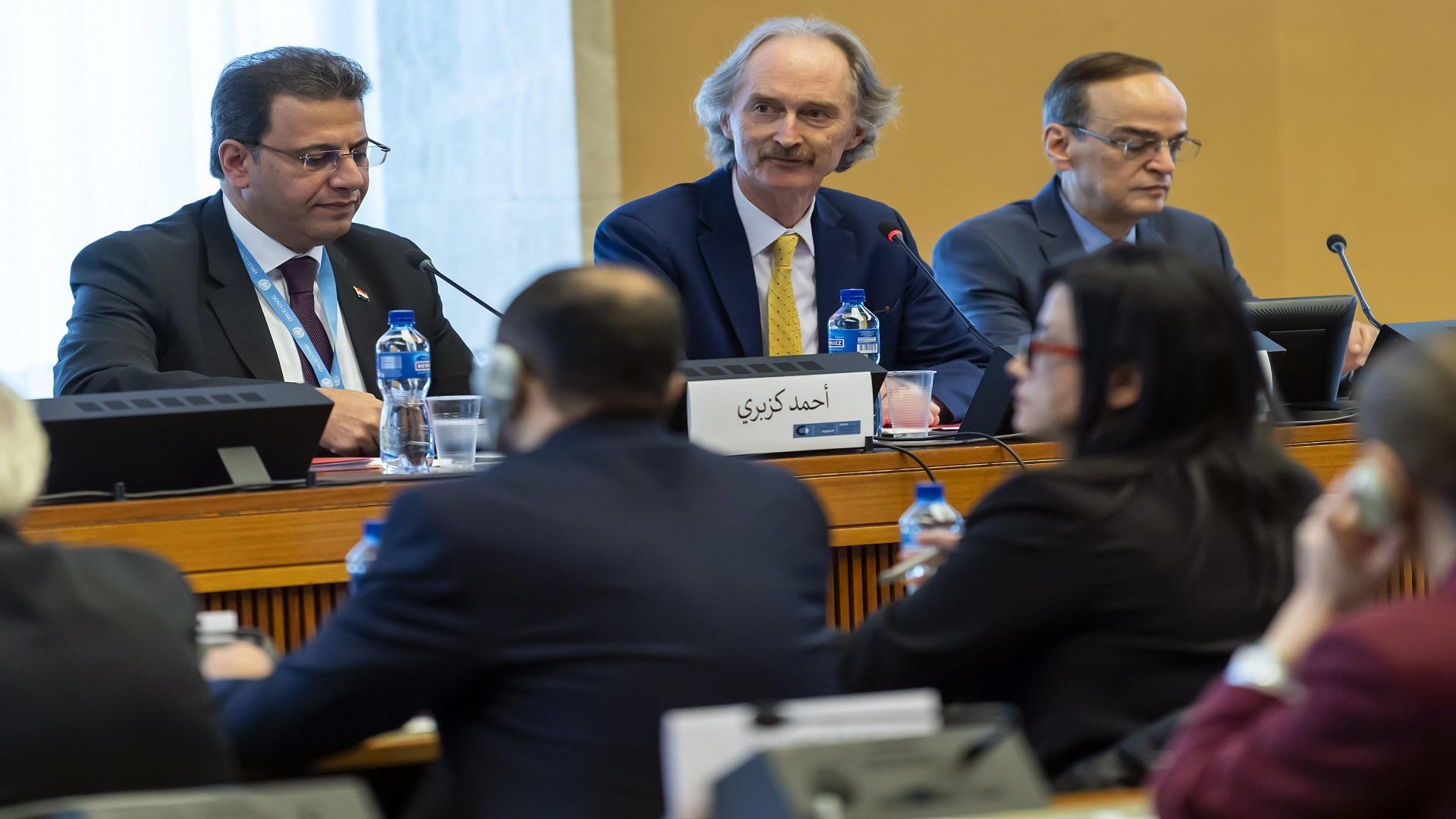 واشنطن تثني على جهود بيدرسون بجمع رئيسي اللجنة الدستورية السورية