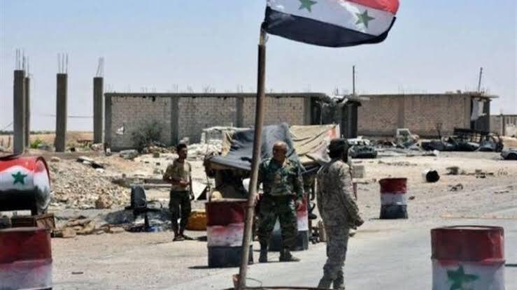 Regime forces deployed in the eastern of Karak town in Daraa countryside