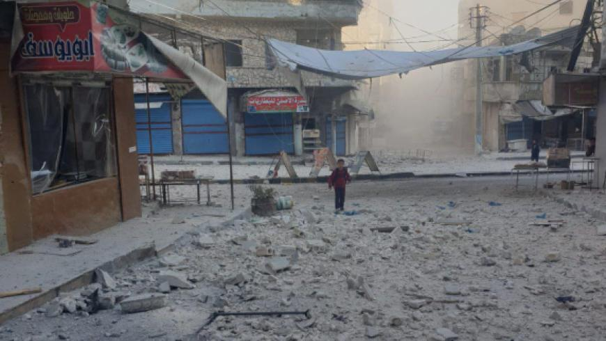 The regime committed a massacre in Ariha..At least 10 civilians were killed by artillery shelling