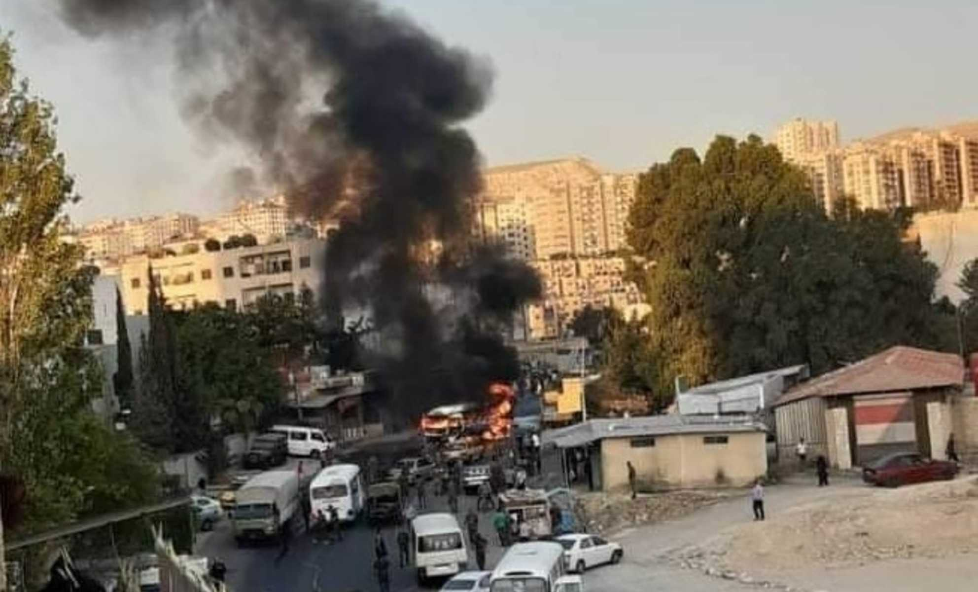 Dead and wounded regime forces in an ammunition depot explosion in Hama