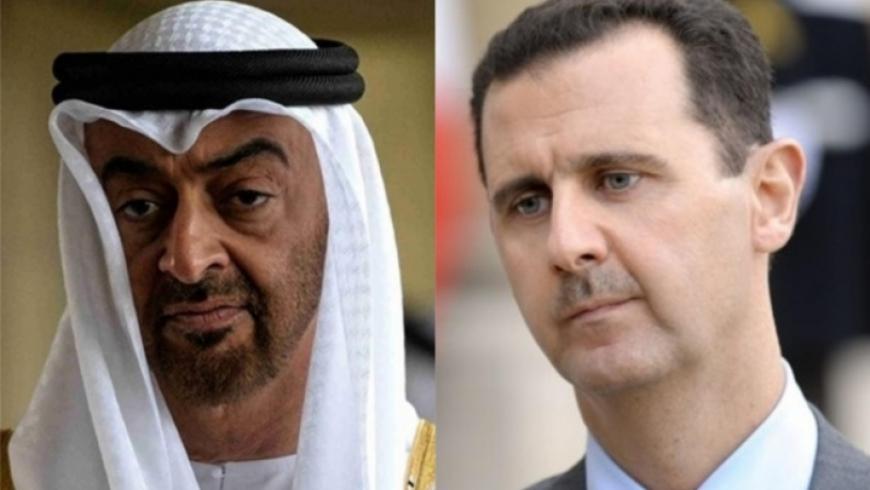 اتصال هاتفي بين ولي عهد أبو ظبي وبشار الأسد