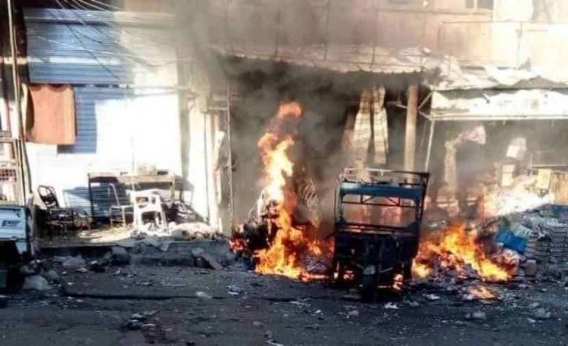 هيئة تحرير الشام تقصف  مواقع قوات النظام وروسيا  بالصواريخ