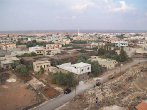 Security tension in Nahata town in the eastern countryside of Daraa