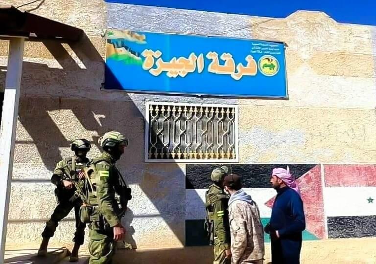 درعا .. اللجنة الأمنية تتابع عمليات التسوية في بلدة الجيزة