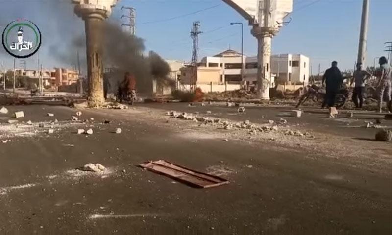 اللجنة الأمنية تهدد باقتحام مدينة الحراك في درعا