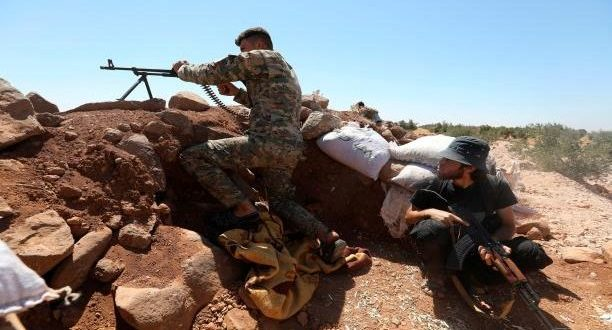 Opposition factions clash with regime forces on the fronts of the western countryside of Aleppo