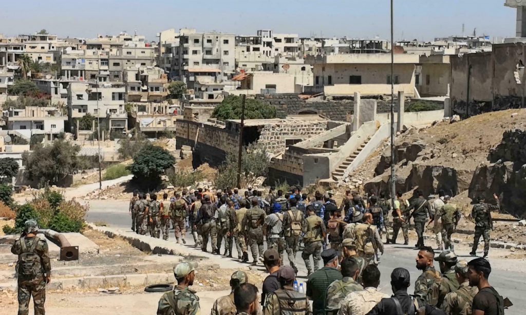Regime forces continue withdrawing from some points in Daraa al-Balad