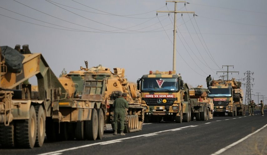 Including tanks and artillery, Turkey sends military reinforcements to Al-Raqqa countryside