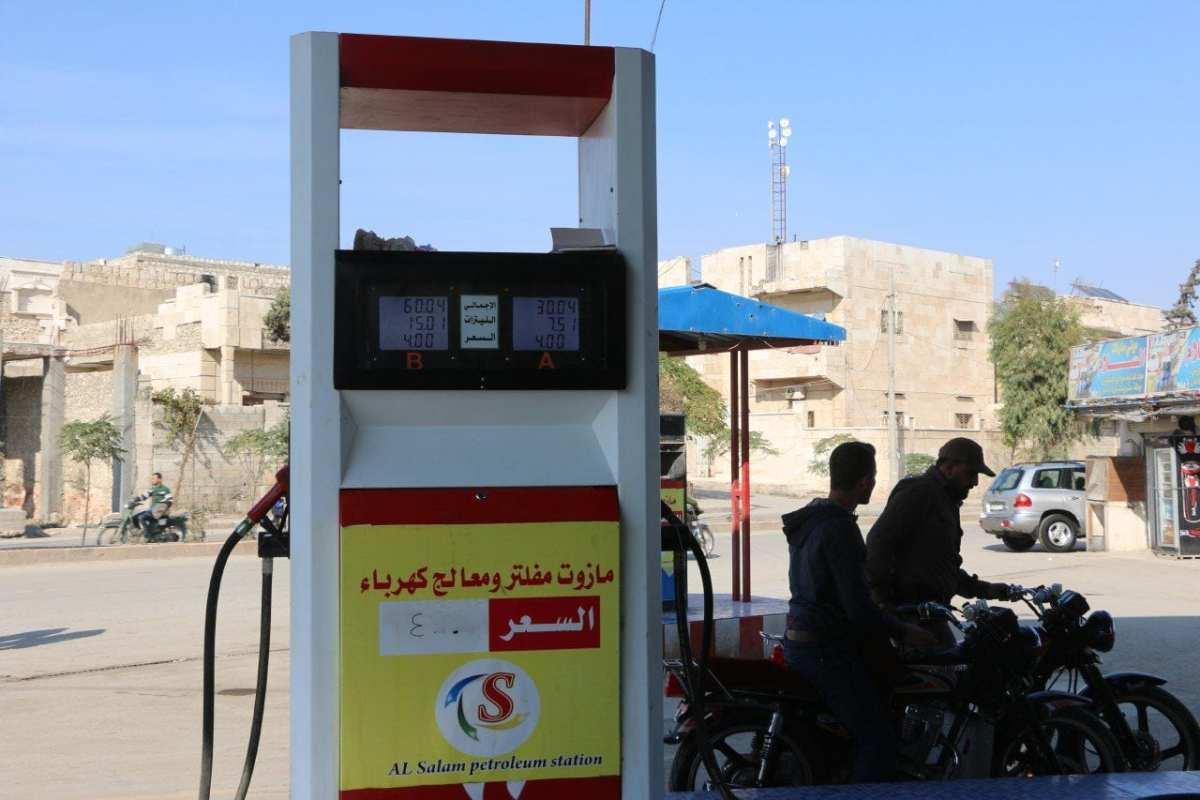 وتد ترفع أسعار المحروقات في ادلب  للمرة السادسة  بأقل من شهرين
