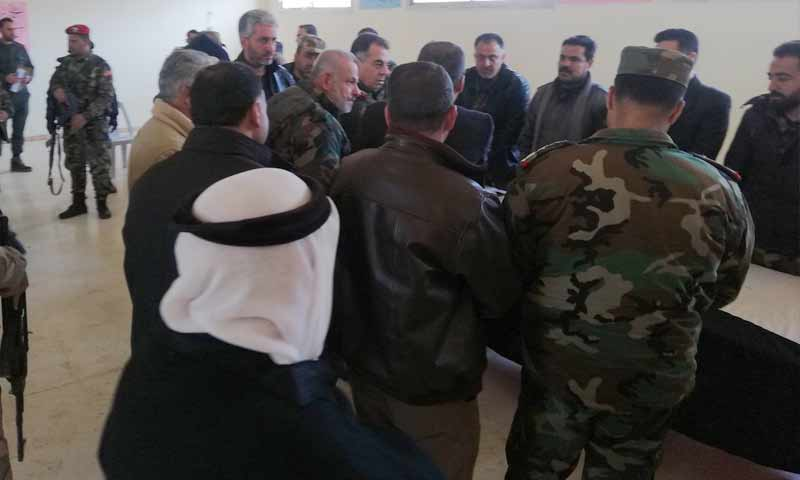 Except Busra al-Sham...the regime forces end settlement operations in most of the countryside of Daraa