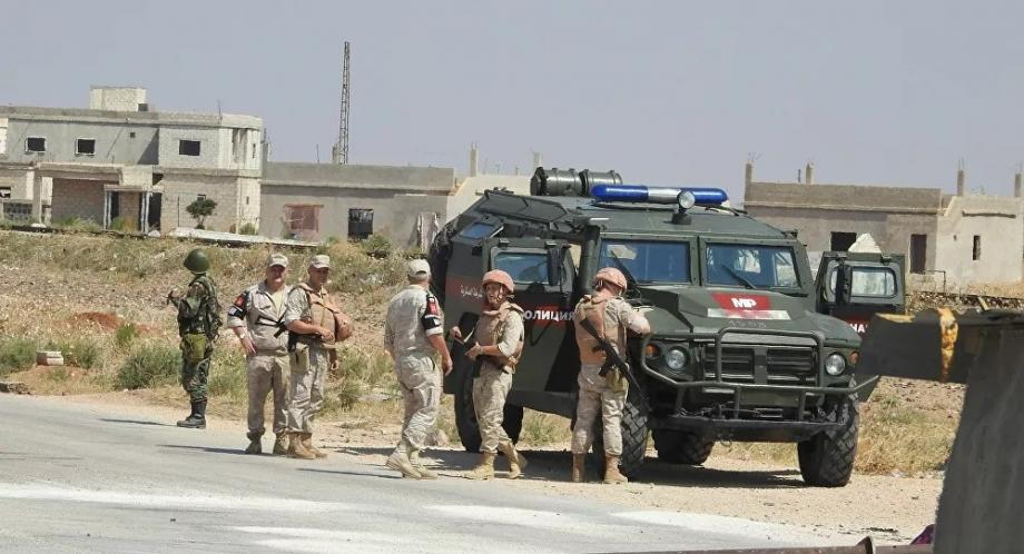 جرحى من القوات الروسية بإنفجار استهدف عربتهم في درعا
